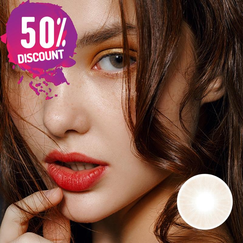 Crystal Color Contact Lenses Natural Bright Cosmetic Eye Contacts Lens Gray Blue Shades