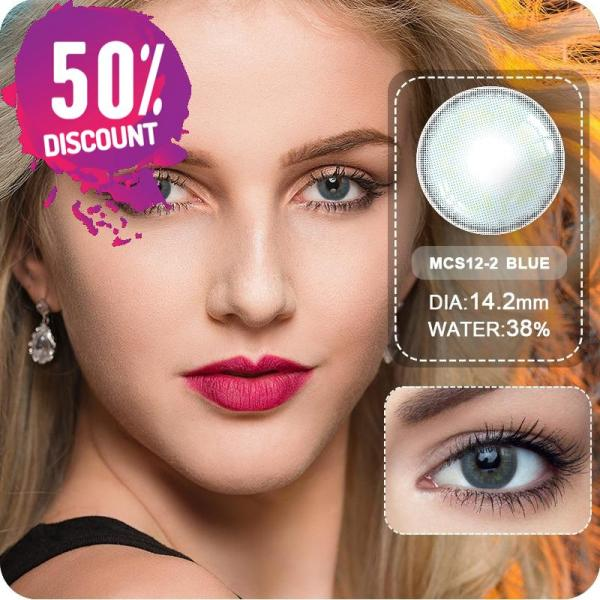 Sweet Cosmetic Blue Grey Shade Eye Contact Lenses 1 Year Use Eye Contact Lenses FREE SHIPPING 6