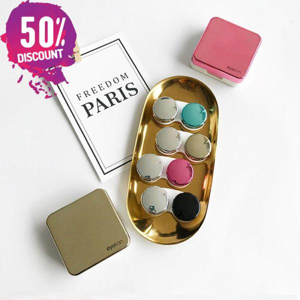 Colored Contact Lenses Case With Mirror Lovely Contact Lenses Travel Kit Box Accessories FREE SHIPPING 6