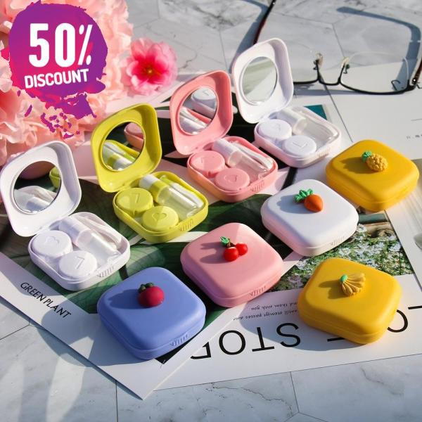 Fruit Eye Contact Lenses Case With Mirror Colored Contact Lenses Travel Kit Box Accessories FREE SHIPPING 7