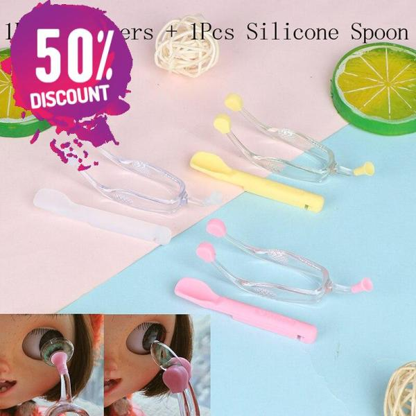 2pcs/box Eye Contact Lenses Wearing Tools Silicone Inserter Remover with Soft Tip Accessories FREE SHIPPING 4