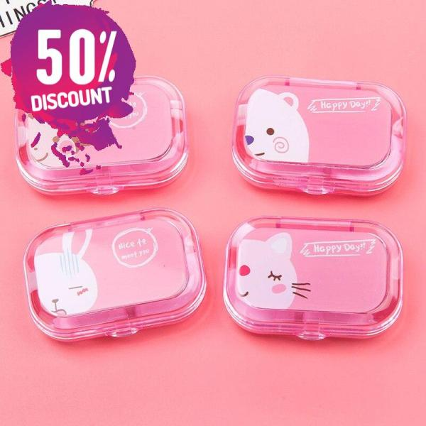 Cartoon Candy Color Eye Contact Lenses Case Travel Kit Box with Mirror Accessories FREE SHIPPING 5