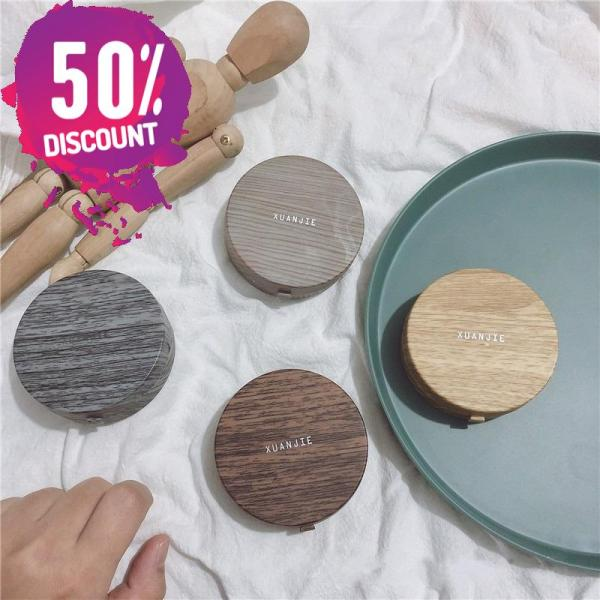 Beautiful Wooden Eye Contact lenses Case Container with Mirror Accessories FREE SHIPPING 4