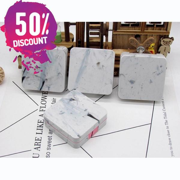Marble Square Eye Contact Lenses Case with Mirror Contact Lens Container Box Accessories FREE SHIPPING 4