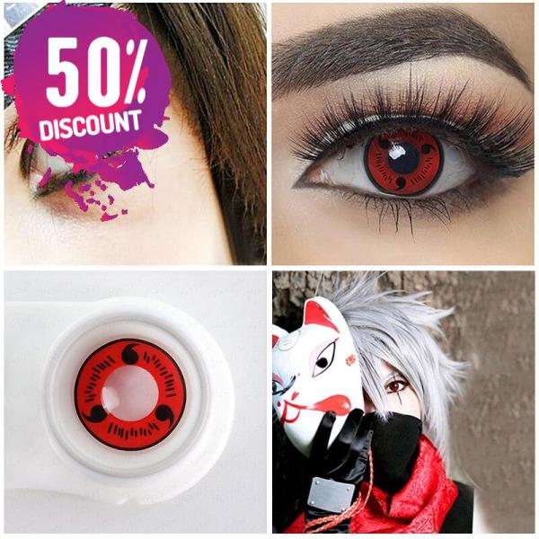 NARUTO Sharingan Colored Contact Lens for Red White Anime Eyes Accessories FREE SHIPPING 7