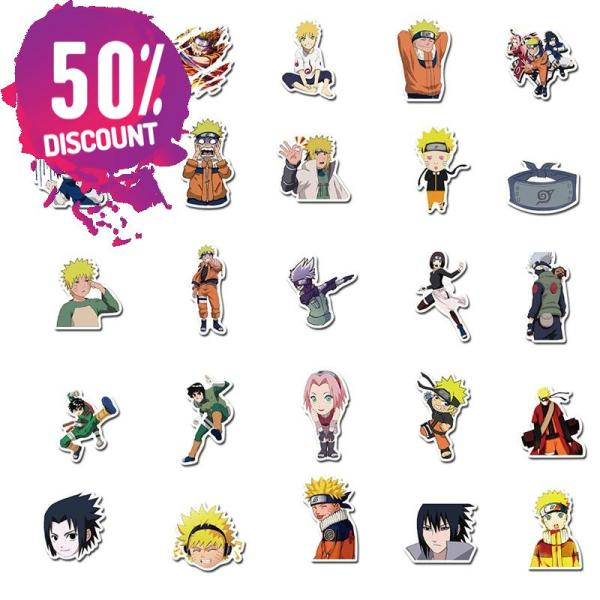NARUTO Waterproof Stickers 10/30/50pcs/Pack Accessories FREE SHIPPING 6