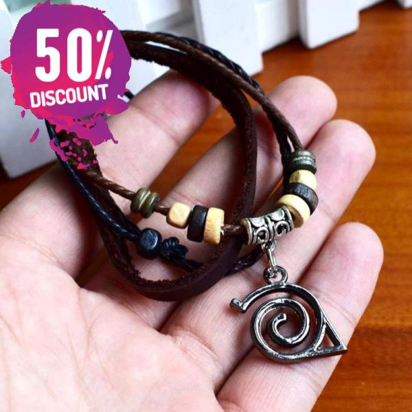 Naruto Logo Bracelets and rings Anime cosplay Prop Accessories FREE SHIPPING 7