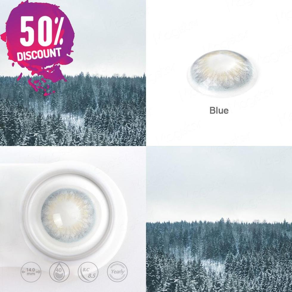 3 Tones Gleam Colored Eye Contact Lenses For a Soft Creamy Look