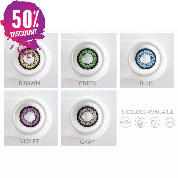 Flare Colored Eye Contact Lenses for Brown Green Blue Violet Gray Candy Color Eyes Eye Contact Lenses FREE SHIPPING 8