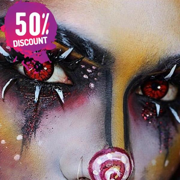 Crazy Cosplay Red Green Snake Eye Halloween Eye Contact Lenses-1 Year Use-Premium Quality Eye Contact Lenses FREE SHIPPING 4