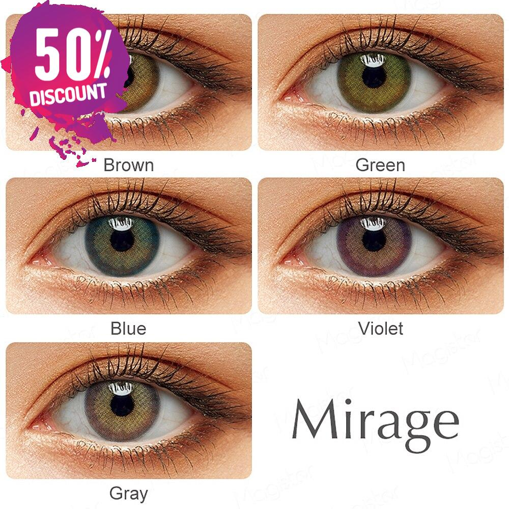 Mirage Natural Looking Colored Eye Contact Lenses – 1Year Use – Premium Quality