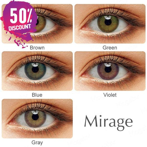 Mirage Natural Looking Colored Eye Contact Lenses – 1Year Use – Premium Quality Eye Contact Lenses FREE SHIPPING 5