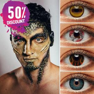 Colored Cosplay Eye Contact Lenses Halloween Crazy Lenses For Anime Look- Premium Quality Eye Contact Lenses FREE SHIPPING