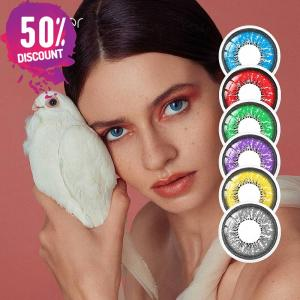Flame Colored Eye Contact Lenses for Colorful Candy Bright Color Eyes-1 Year Use-Premium Quality Eye Contact Lenses FREE SHIPPING