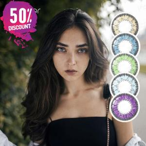 Desire Colorful Eye Contact Lenses for Beautiful Sexy Bright Colored Eyes-1 Year Use Eye Contact Lenses FREE SHIPPING