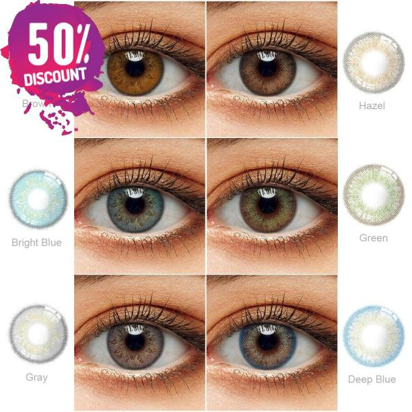 Delight Colored Eye Contact Lenses for a Sexy Beautiful Look Green Gray Blue Shades Eye Contact Lenses FREE SHIPPING 4