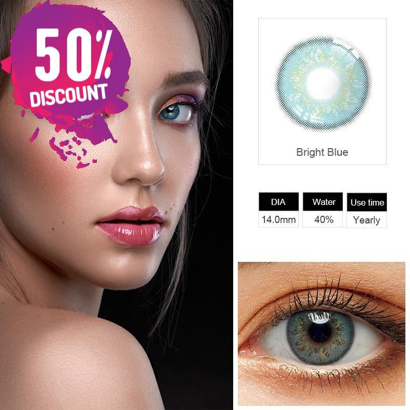 Delight Colored Eye Contact Lenses for a Sexy Beautiful Look Green Gray Blue Shades
