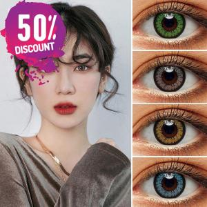 Flare Brown Green Gray Purple Blue Colored Eye Contact Lenses-1 Year Use Eye Contact Lenses FREE SHIPPING