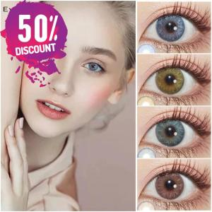 Gemstone Colored Eye Contact Lenses For Blue Green Pink Hazel Beautiful Colored Eyes Eye Contact Lenses FREE SHIPPING