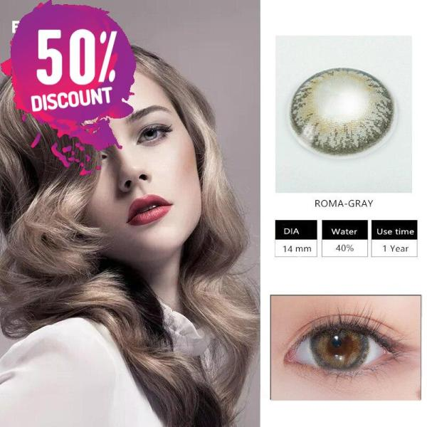 Roma Colored Eye Contact Lenses For Beautiful Green Blue Brown Shades Colored Eyes Eye Contact Lenses FREE SHIPPING 5