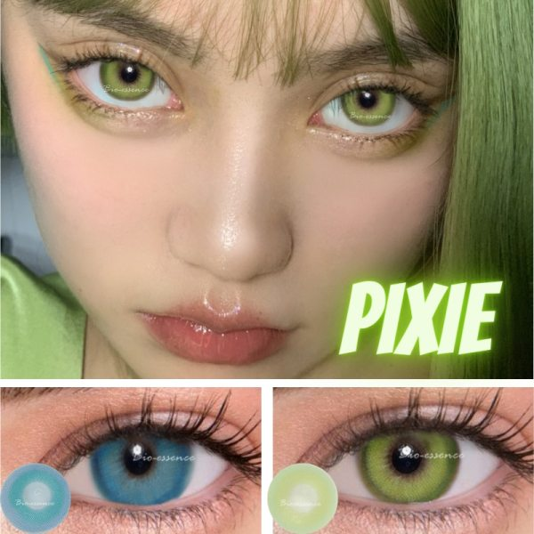 Prescription Colored Contacts For Myopia Bright Blue Green Color Contact Lenses-1 Year Use Eye Contact Lenses FREE SHIPPING 3