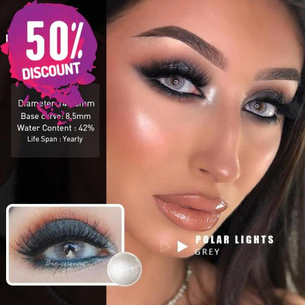 Prescription Colored Contacts For Myopia Hydrolocor Gray Green Nrown Color Contact Lenses-1 Year Use Eye Contact Lenses FREE SHIPPING 6