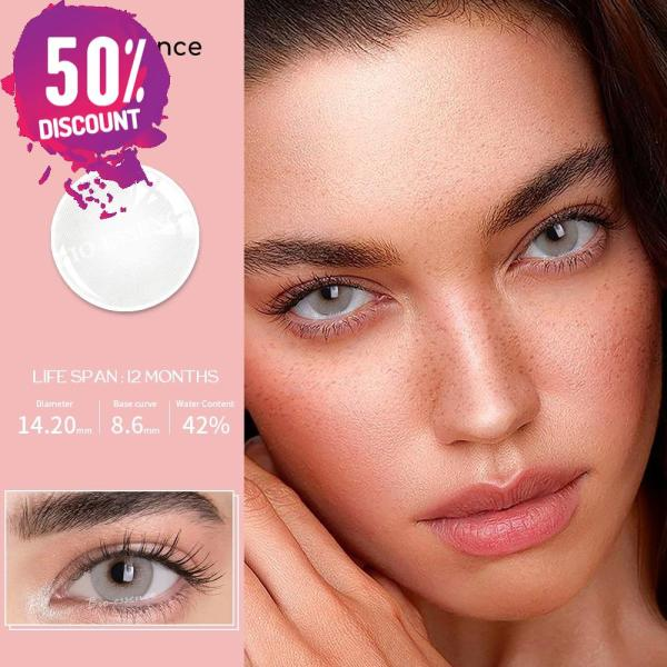 Prescription Colored Contacts For Myopia Natural Gray Green Blue Brown Eye Contact Lenses-1 Year Use Eye Contact Lenses FREE SHIPPING 6
