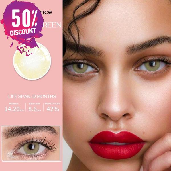 Prescription Colored Contacts For Myopia Natural Gray Green Blue Brown Eye Contact Lenses-1 Year Use Eye Contact Lenses FREE SHIPPING 8