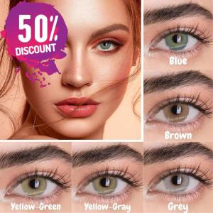 Prescription Colored Contacts For Myopia Natural Gray Green Blue Brown Eye Contact Lenses-1 Year Use Eye Contact Lenses FREE SHIPPING