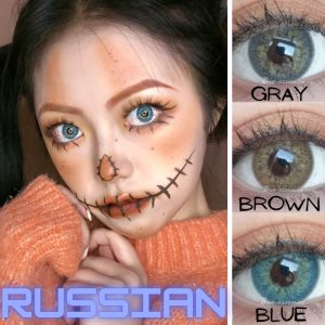 Prescription Colored Contacts For Myopia Russian Blue Brown Gray Eye Contact Lenses-1 Year Use Eye Contact Lenses FREE SHIPPING
