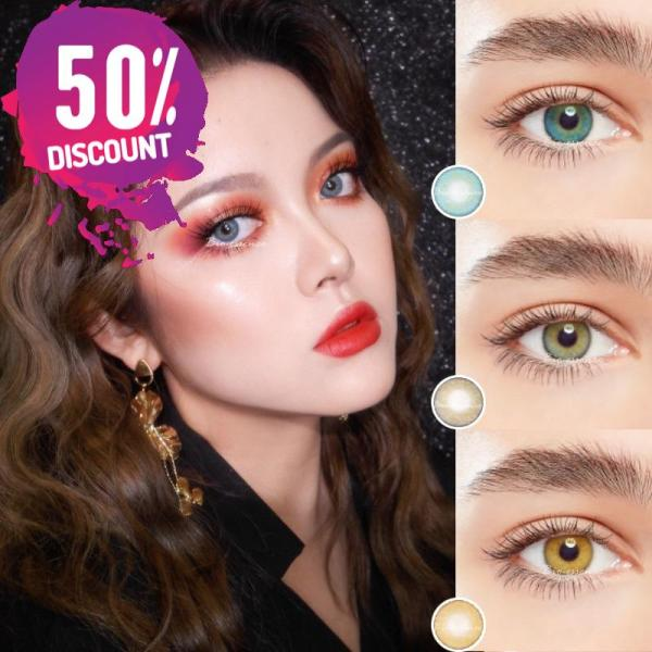Prescription Colored Contacts For Myopia Russian Blue Brown Gray Eye Contact Lenses-1 Year Use Eye Contact Lenses FREE SHIPPING 8