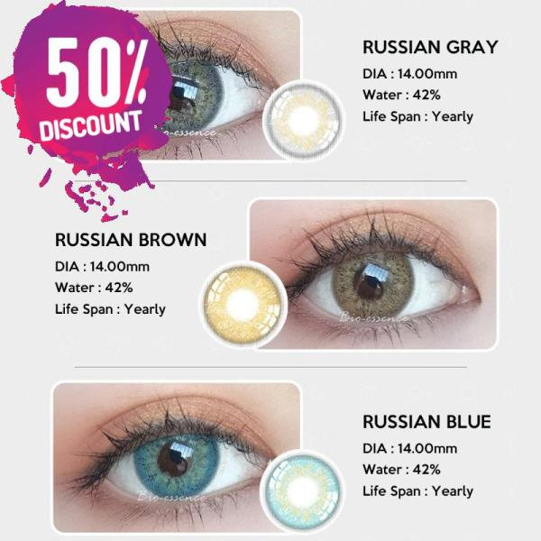 Prescription Colored Contacts For Myopia Russian Blue Brown Gray Eye Contact Lenses-1 Year Use Eye Contact Lenses FREE SHIPPING 4