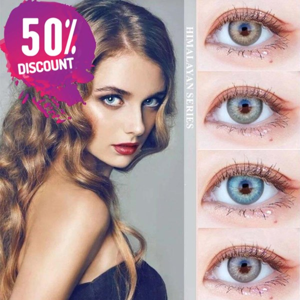 Himalayas Blue Green Shades Colored Eye Contact Lenses For Beautiful Ocean Blue Eyes Eye Contact Lenses FREE SHIPPING 3