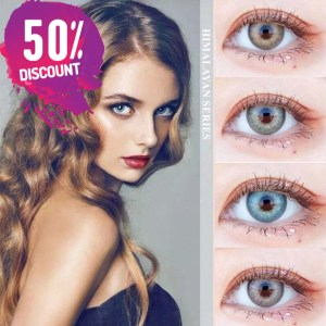 Himalayas Blue Green Shades Colored Eye Contact Lenses For Beautiful Ocean Blue Eyes Eye Contact Lenses FREE SHIPPING