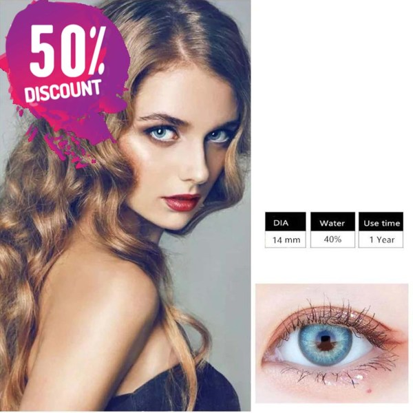 Himalayas Blue Green Shades Colored Eye Contact Lenses For Beautiful Ocean Blue Eyes Eye Contact Lenses FREE SHIPPING 6