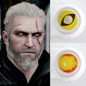 Geralt Of Rivia Contact Lenses Witcher 3 Wild Hunt Yellow Cat eyes Cosplay Eye Contact Lenses Eye Contact Lenses FREE SHIPPING