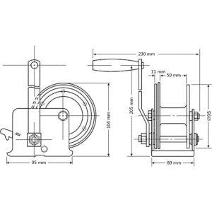 Toolland Handlier 250 kg WHW250