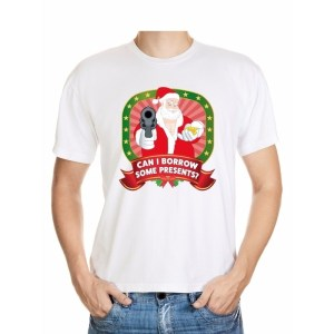 Foute kerst shirt wit - can I borrow some presents - voor heren