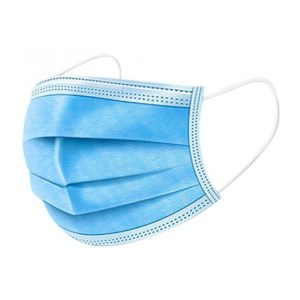 10x Chirurgische mondkapjes kleur blauw