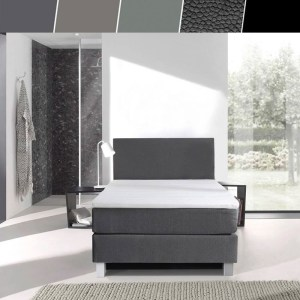 Luxe 1-persoons boxspringset 90x200 cm