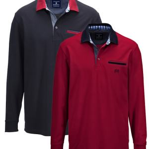 Poloshirts per 2 BABISTA Bordeaux::Marine