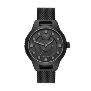 PUMA Reset roestvrijstalen V1 horloge, Zwart/Aucun, Maat Eén maat