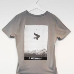 T-shirt grijs met zwart/wit fotoprint