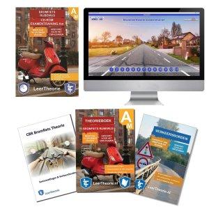 Scooter Theorieboek 2020 met Scooter theorie samenvatting - Verkeersbordenboekje en een uitgebreide oefen Bromfiets Theorie CD-ROM