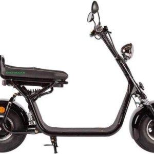 The Scootershop electrische scooter 2-persoons, ZWART met kenteken