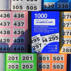 Dubbelnummers - lootjes - 6000 stuks