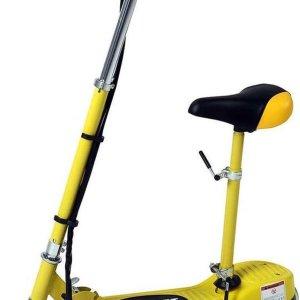 Electrische scooter met afneembaar en verstelbaar zitje 120w 24v geel