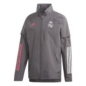 Heren Sportjas Real Madrid Adidas AW JKT Grijs