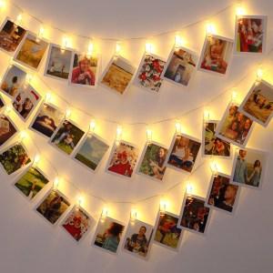 Monzana lichtketting voor foto 5,2m met 42 clips en afstandsbediening