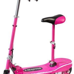 Roze Electrische scooter met afneembaar en verstelbaar zitje - 24V 120W - accu-voertuig